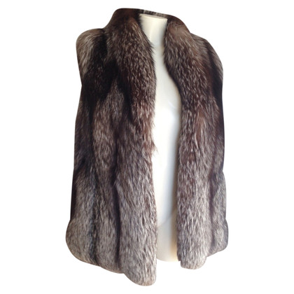 Other Designer Vest in silver fox fur