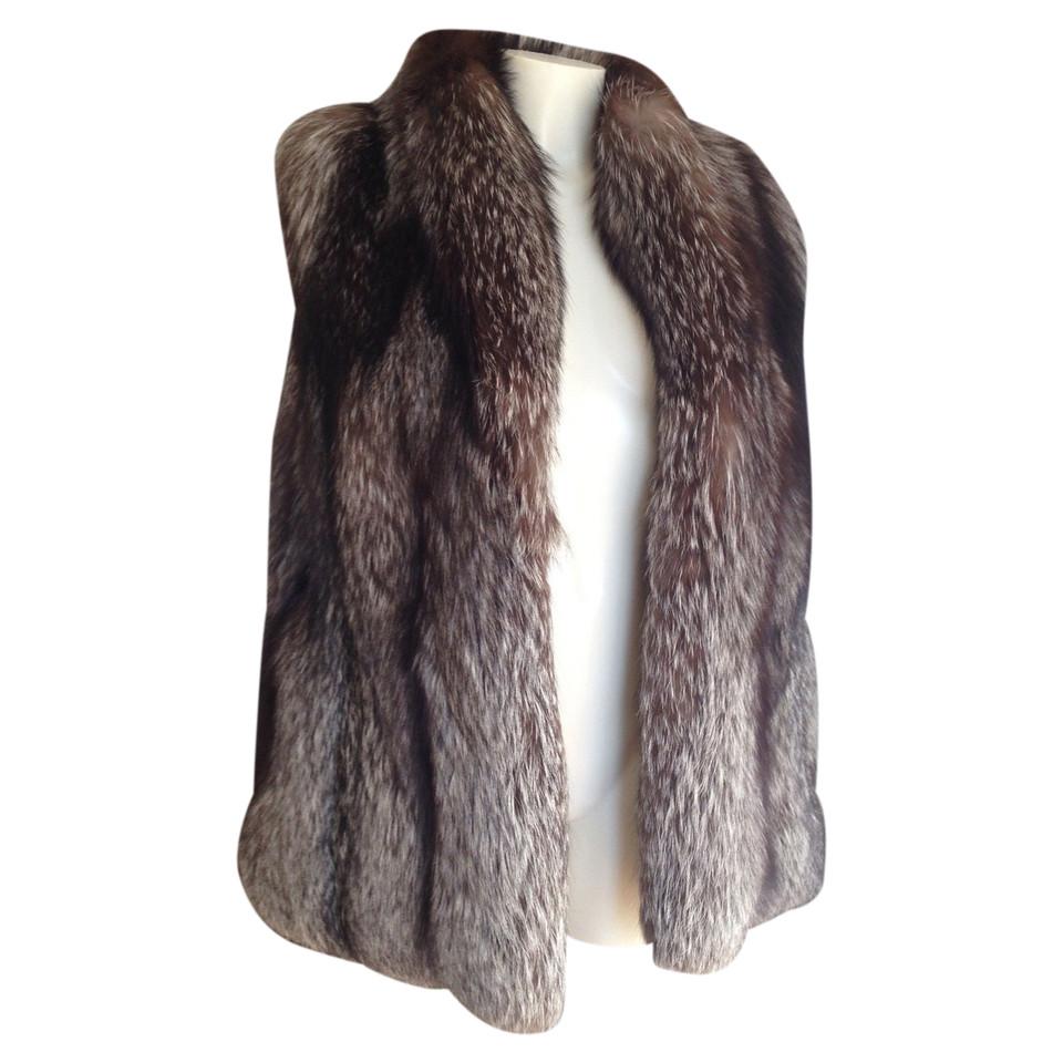 Other Designer Vest in silver fox fur