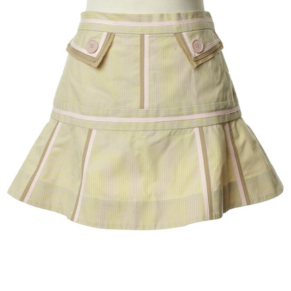 Marc by Marc Jacobs Gestreepte rok in beige