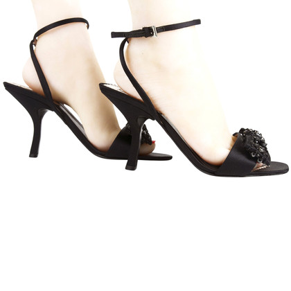 Prada Black Evening Sandals