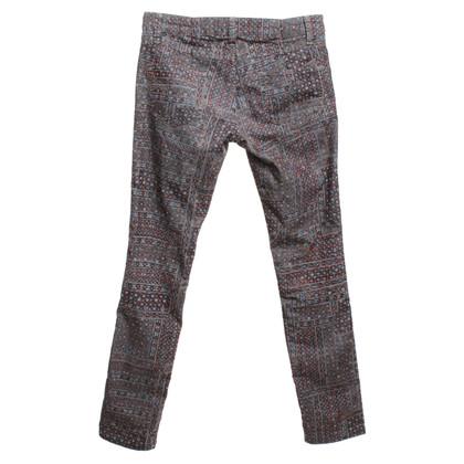 Isabel Marant Etoile un pantalon en velours côtelé avec impression
