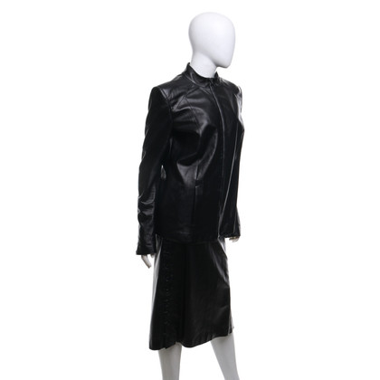 Olivier Theyskens Costume in pelle nera