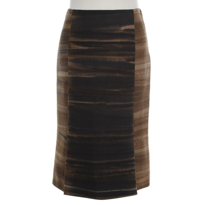 Prada 6-lanes-skirt in brown / blue