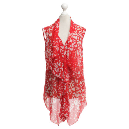 St. Emile top in red / white