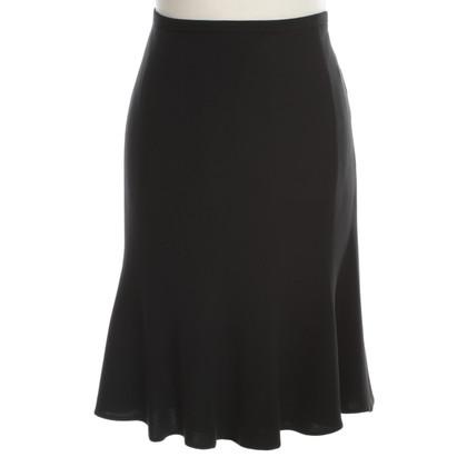 Armani Collezioni Zijden rok in zwart