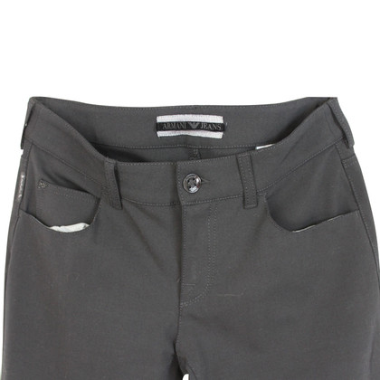 Armani Armani black wool jeans