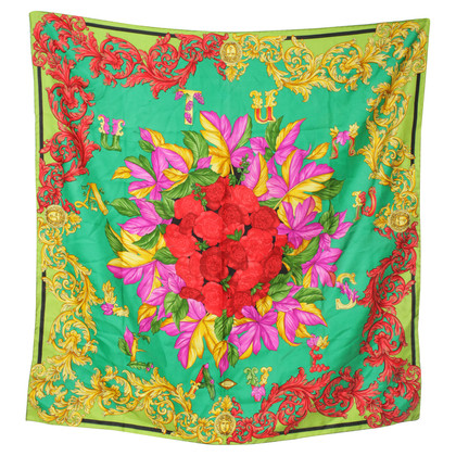 Gianni Versace Colorful patterned silk scarf