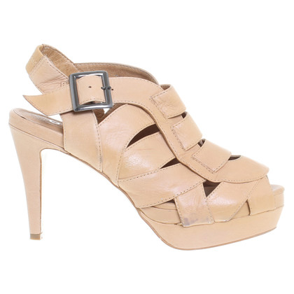 Office London  Platform sandalen beige