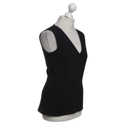 Victoria Beckham Top with V-neck in black