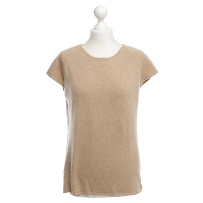 Iris von Arnim Pullover with short sleeve cashmere beige