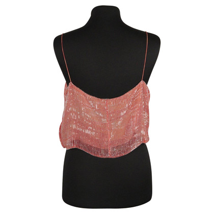 Giorgio Armani Halter top with sequin trim