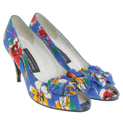 Stuart Weitzman Peeptoes with floral pattern