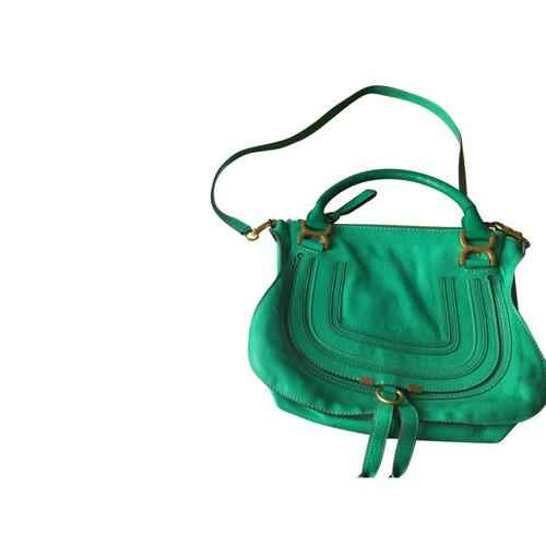 8f47805d1278f Chloé Handtasche aus Leder in Grün - Second Hand Chloé Handtasche ...