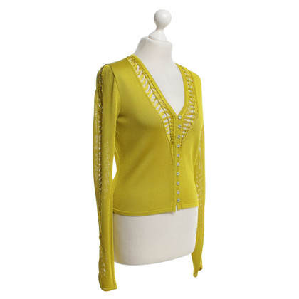 John Galliano Cardigan in mustard yellow