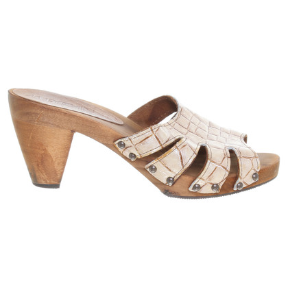 Marc Cain Sandals in reptile leather-look