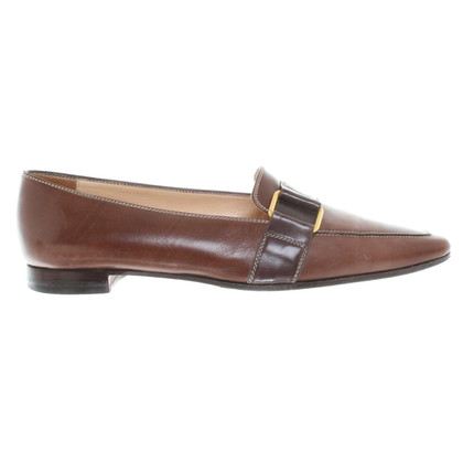 Manolo Blahnik Leder-Loafer in Braun
