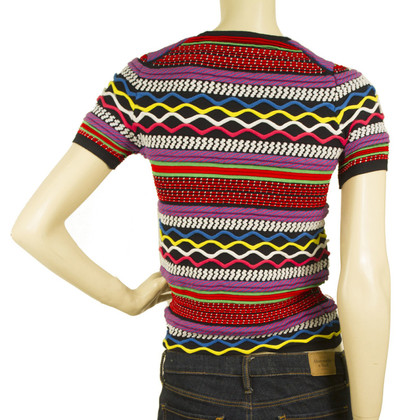 Dsquared2 Multicolor Short Sleeve Knitted Top