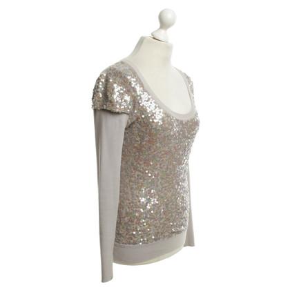 Karen Millen Lovertjes shirt in zilverkleur