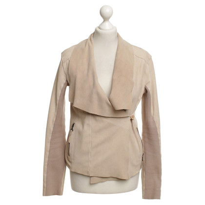 Twin-Set Simona Barbieri Leather jacket in beige