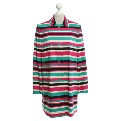 Hugo Boss Coat with multicolored stripes