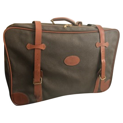 Mulberry Canvas and leather travel bag
