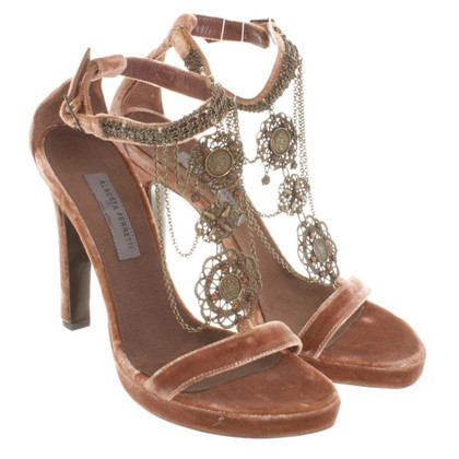 Alberta Ferretti Sandals in velvet look