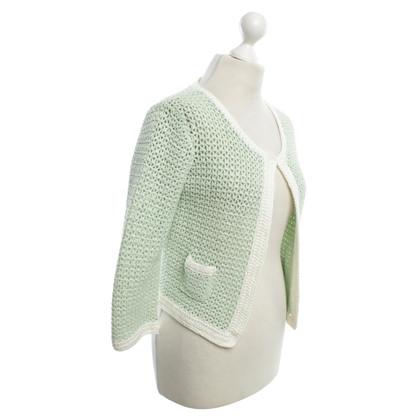 0039 Italy Crochet jacket in mint green