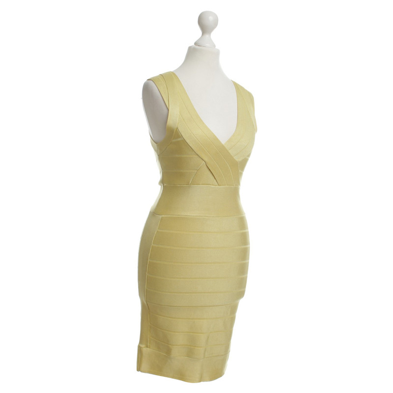 French connection yellow bandage dress.