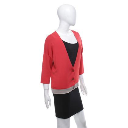 Maliparmi Vest in rood / beige