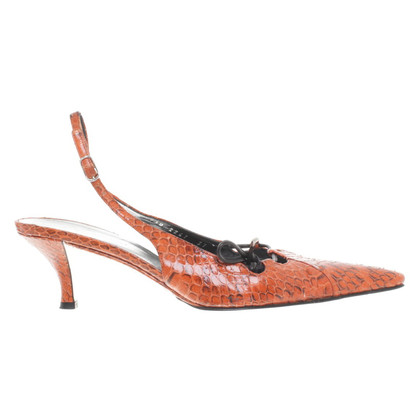 Dolce & Gabbana Snake leather Slingbacks