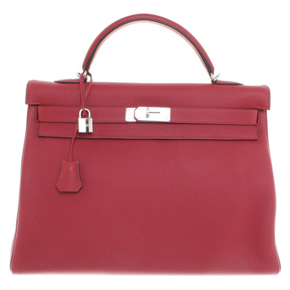 "Hermès ""Kelly Bag 40"" in Rouge Grenat"
