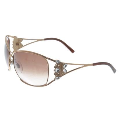 Salvatore Ferragamo Brons gekleurde zonnebril