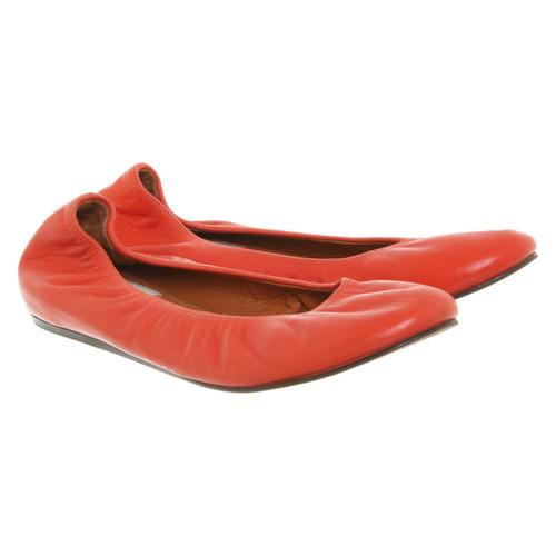size 40 70edd a7d46 Lanvin Slipper/Ballerinas aus Leder in Orange - Second Hand ...