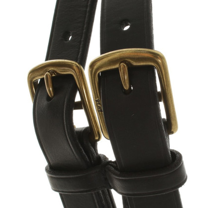 Ralph Lauren Leather belt with double belt