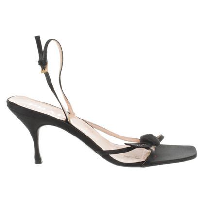 Prada Sandaletten aus Satin