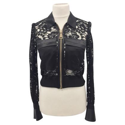 Givenchy Zwarte kant bomberjack