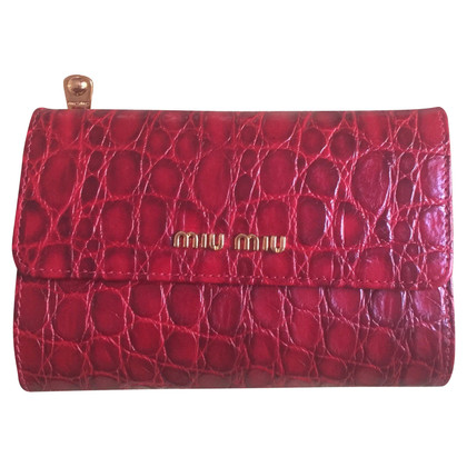 Miu Miu Wallet in reptile look