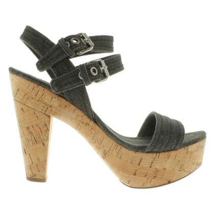 Miu Miu jeans sandalen