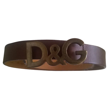 D&G Cintura in pelle a Brown