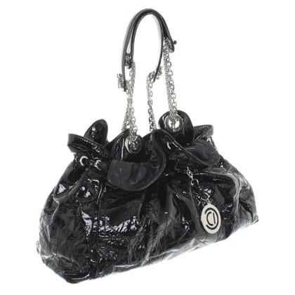 Christian Dior Lacklederhandtasche in Schwarz