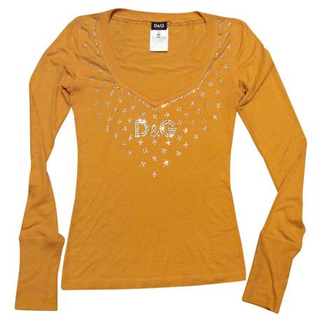 D Pailletten amp;G mit Shirt T Gelb D amp;G PdxY4U