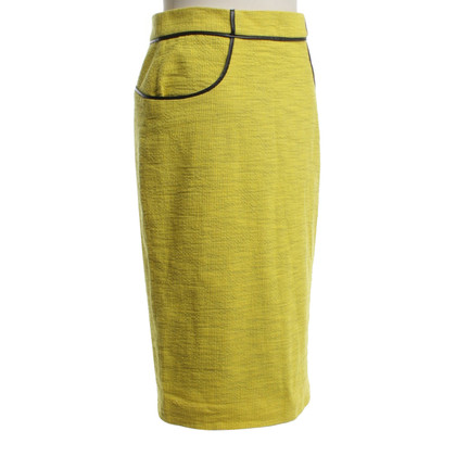 Whistles Pencil skirt in yellow