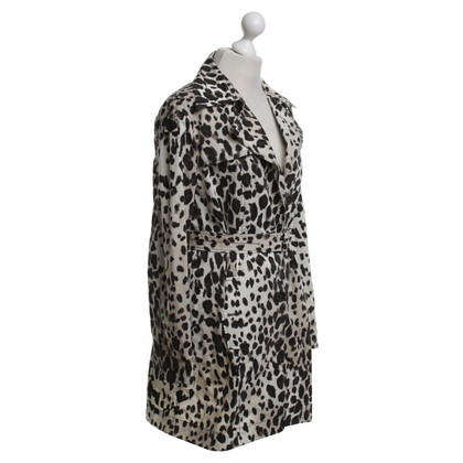Marc Cain Trench coat with leopard pattern