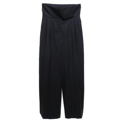 Yves Saint Laurent Pantaloni larghi in nero