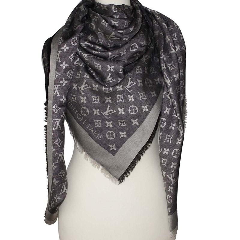 louis vuitton monogram denim shawl buy second louis