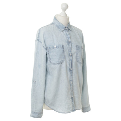 Adriano Goldschmied Denim shirt in light blue