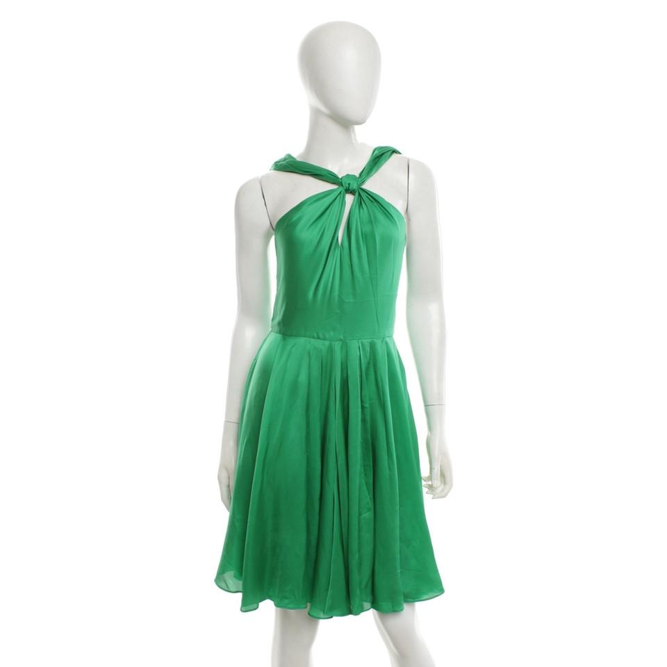 Halston Heritage Smaragdgrünes Kleid aus Satin - Second Hand Halston ...