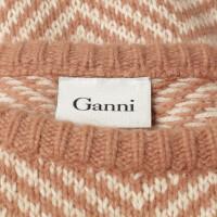 Ganni Pullover mit Fischgrät-Muster