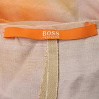 Hugo Boss Kleid mit Tuch in Multicolor
