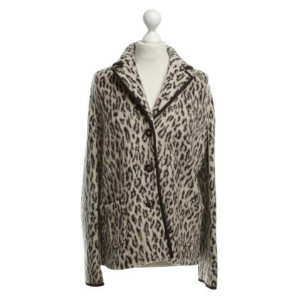 Laurèl Blazer in lana con stampa animalier